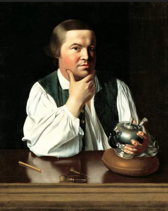 Paul Revere    Oil on canvas by John Singleton Copley, painted 1768 - 1770