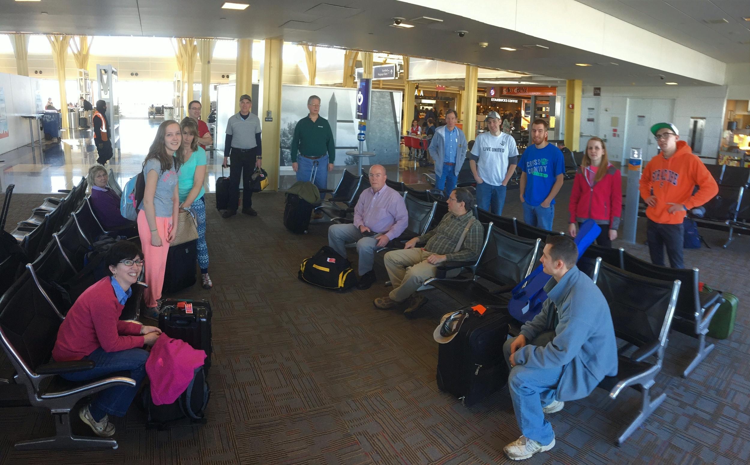 Waiting for Flight at Ronald Reagan National Airport