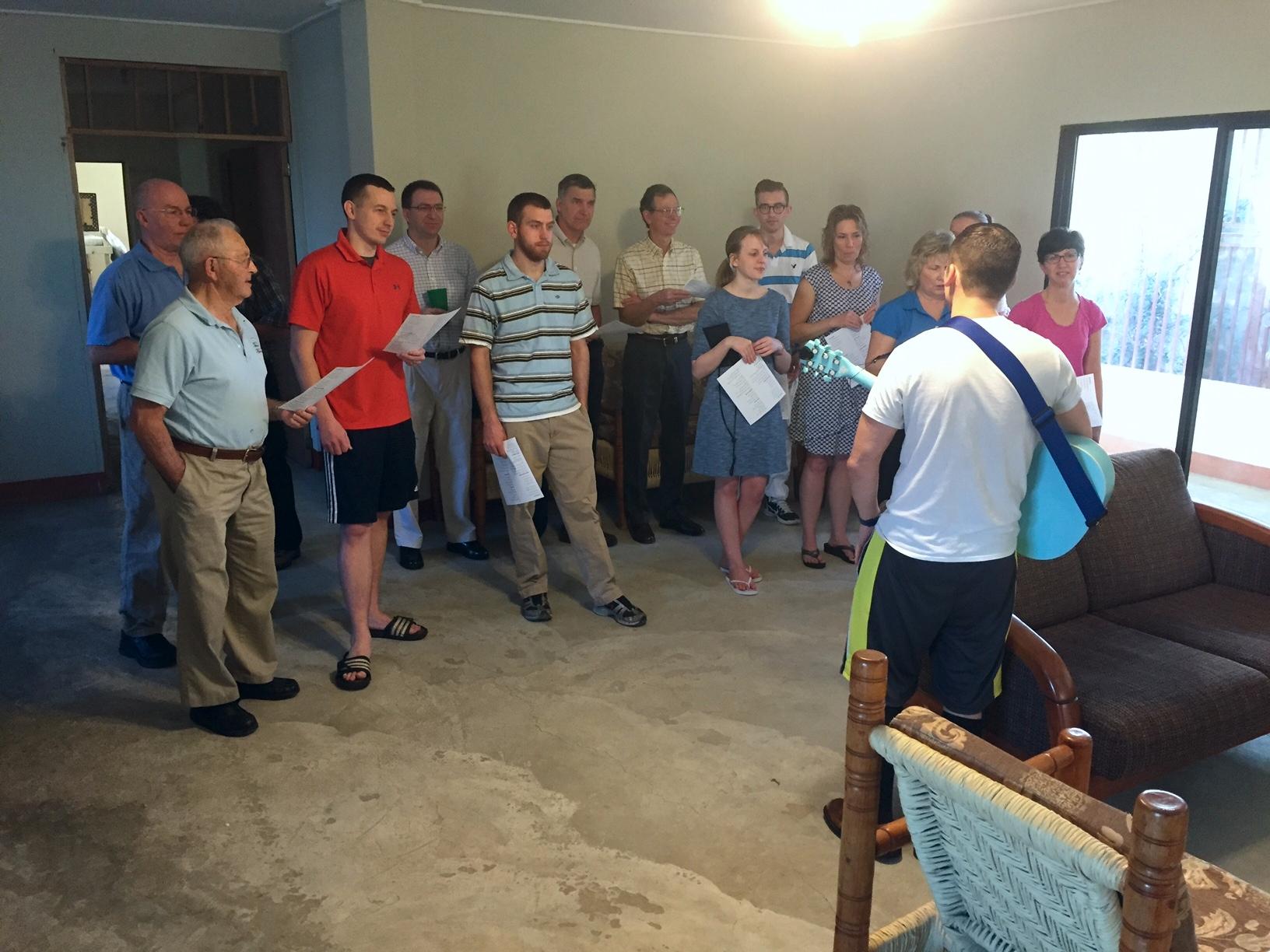 Sunday Morning Choir Practice