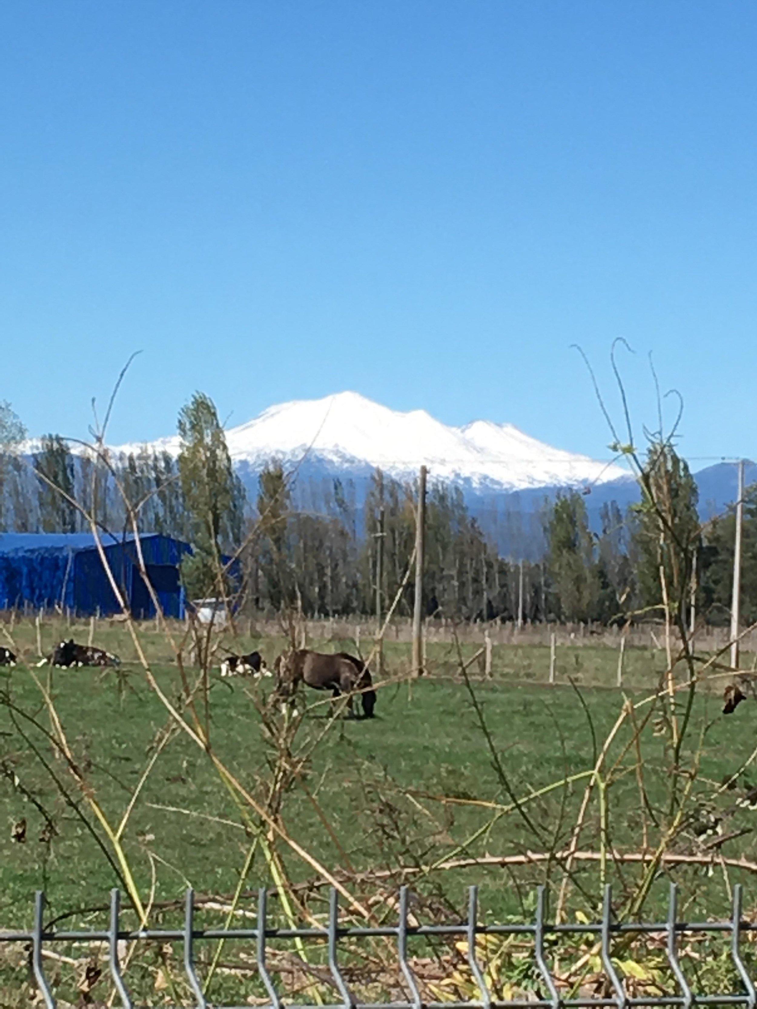 Nearby volcano.