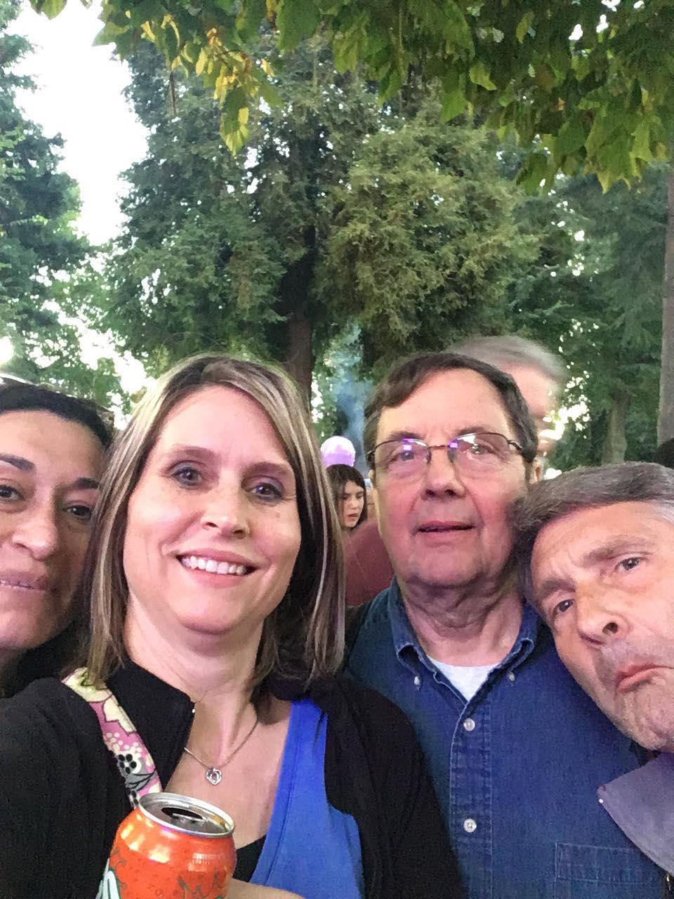 Team selfie.