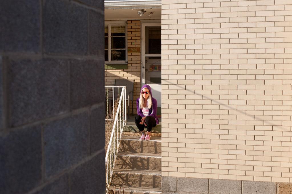 Julie on Porch Steps