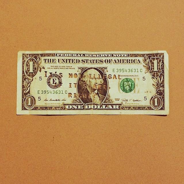 laser printer on American dollar