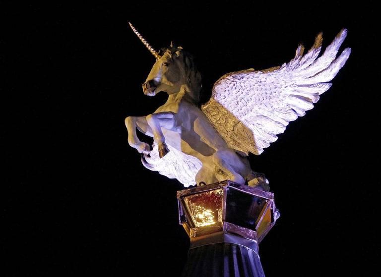 """""""Imagine"""" the Bronze Winged Pegasus"""