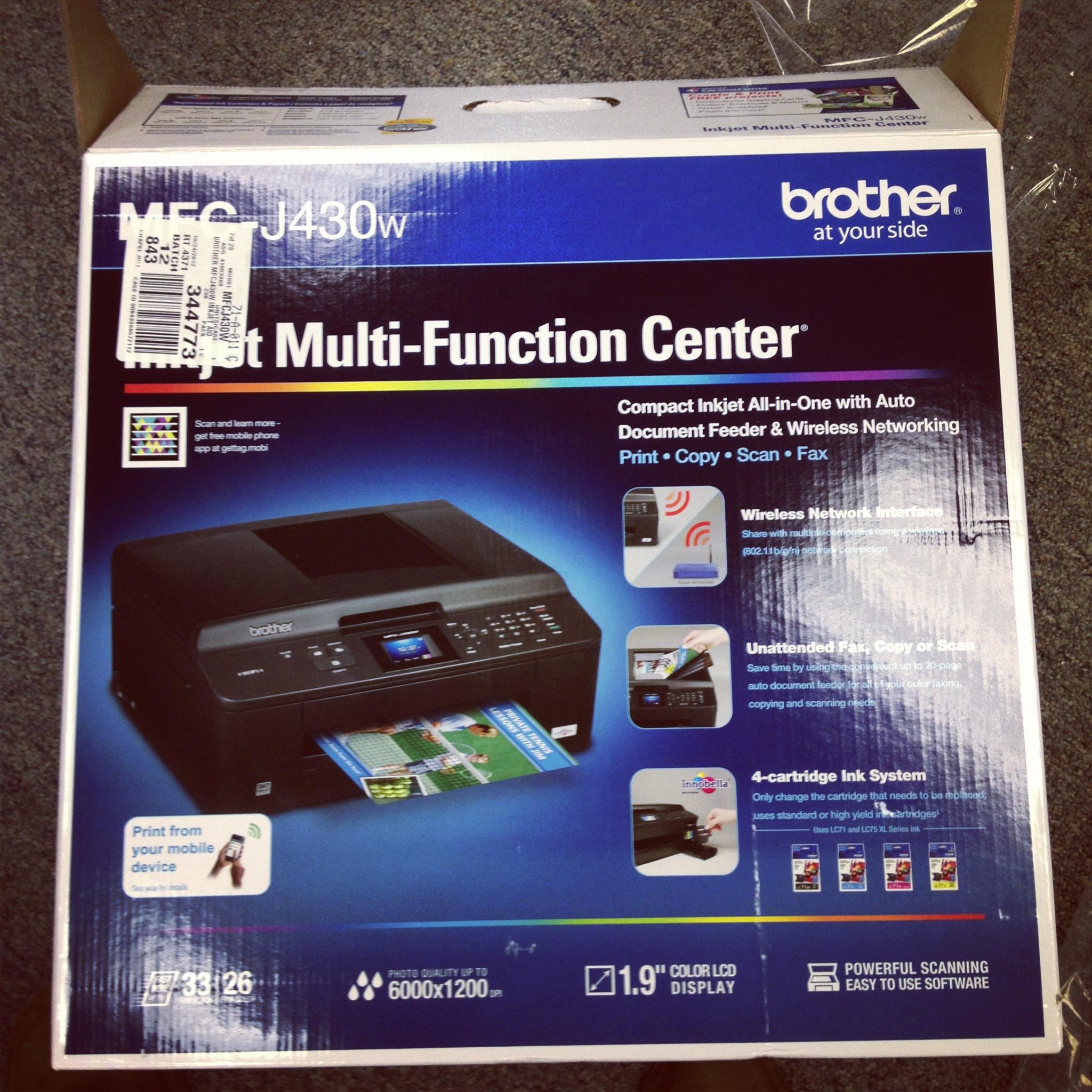 New Fax Machine Box