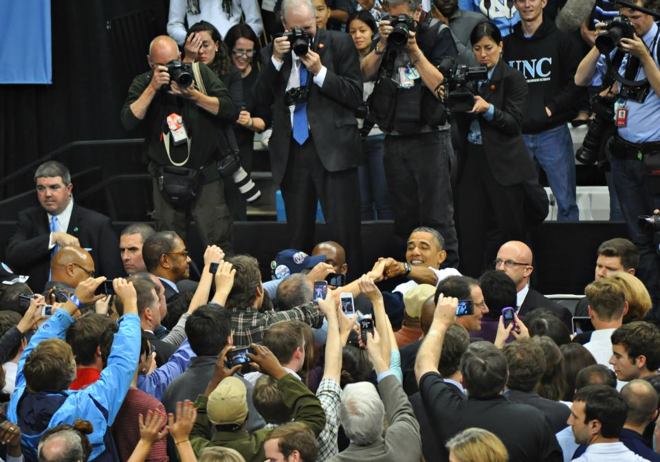 The President Visits Chapel Hill