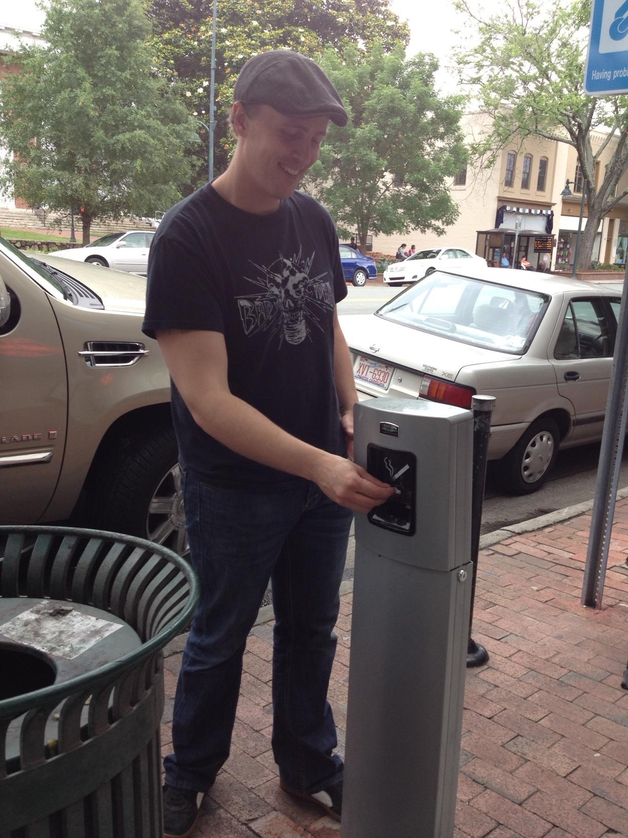 Downtown Partnership Grants New Cigarette Urns
