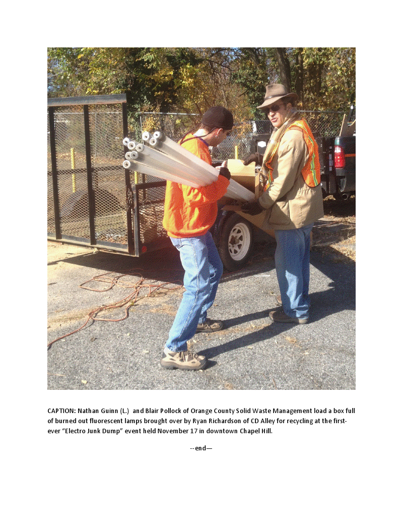 Downtown Partnership Sponsors 1st Electro Dump