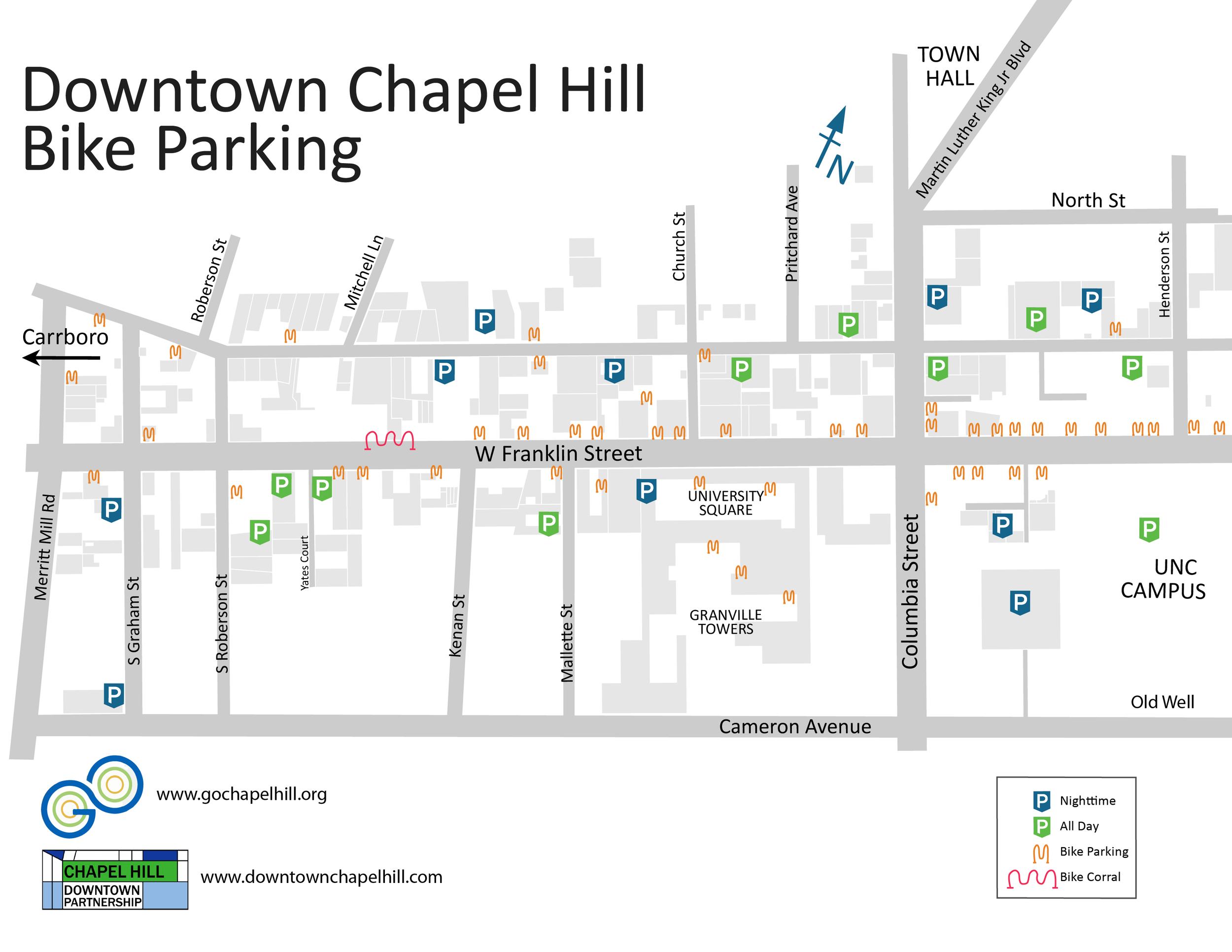 Downtown Bike Parking Map