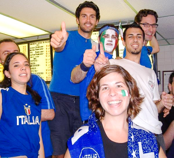 Italia fans watching World Cup action at IP3. Photo courtesy of Italian Pizzeria III.