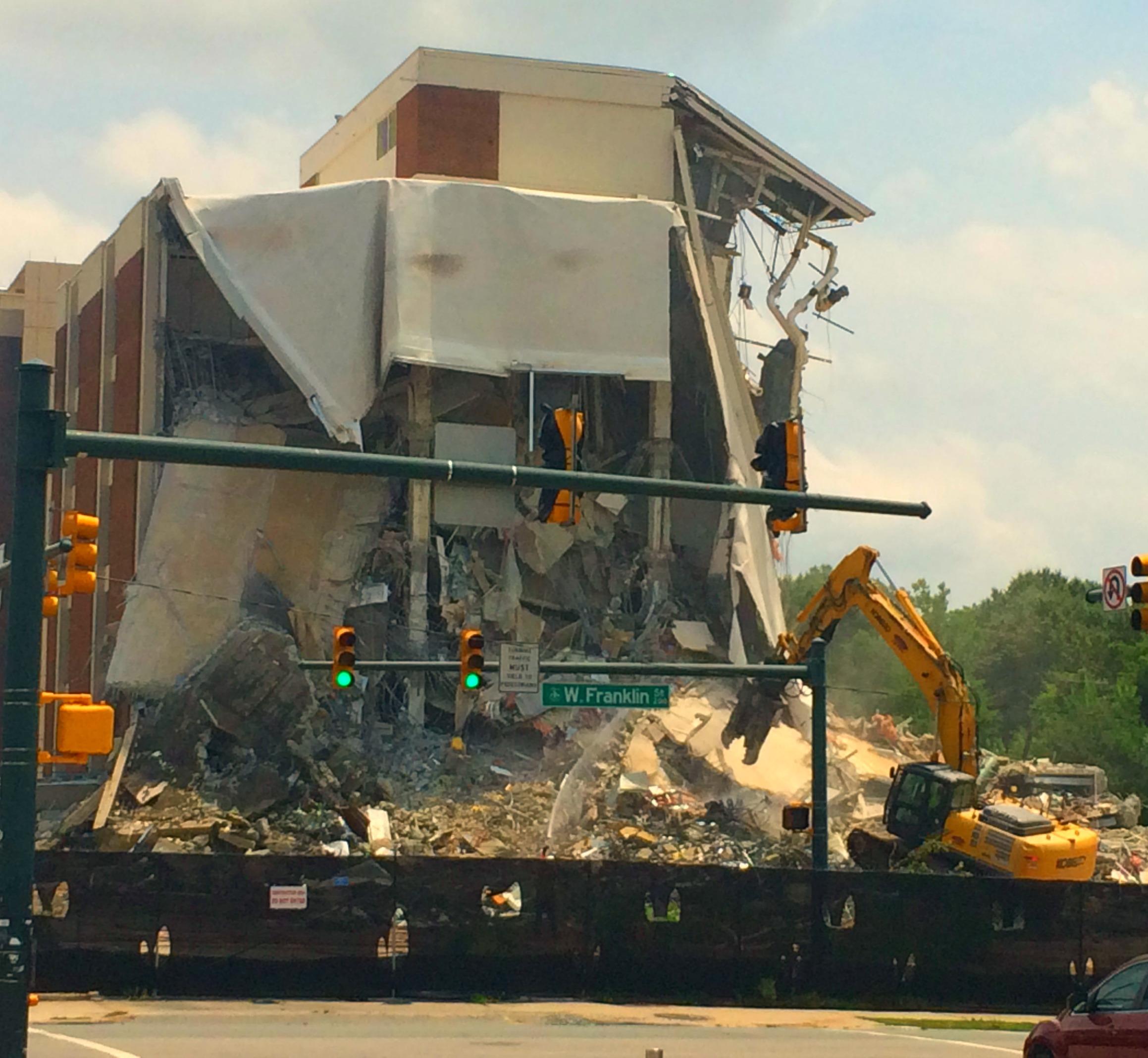 Demolition of University Square, May 2015.