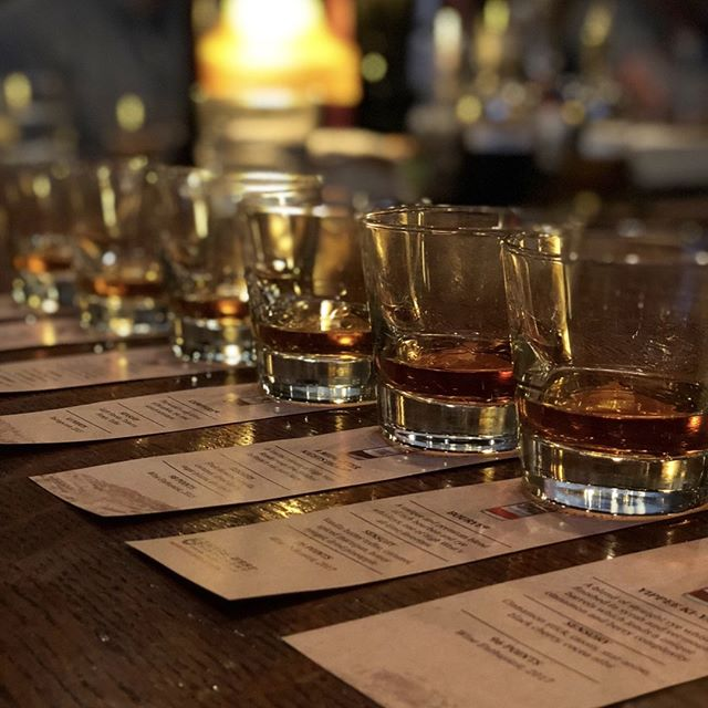 Here at The Crunkleton, we like to provide unique opportunities for our patrons in many different ways. Every few months, we host tastings for different spirits, giving people the opportunity to try new brands or spirits and to learn in a classroom-like atmosphere. Most recently, we've done a High West tasting, a Charles Medley Distillery tasting, and the Spirits of Mexico (which mostly focused on mezcal with a little bit of tequila talk). These events provide a great chance to ask questions among new friends and our staff, and sometimes representatives from brands/distilleries. These events are open to the public to buy tickets and are advertised on our social media pages!  If you cannot attend one of these events or are wondering about other options, we also host private bourbon and scotch tastings for small groups of people. For more information, please email events@thecrunkleton.com