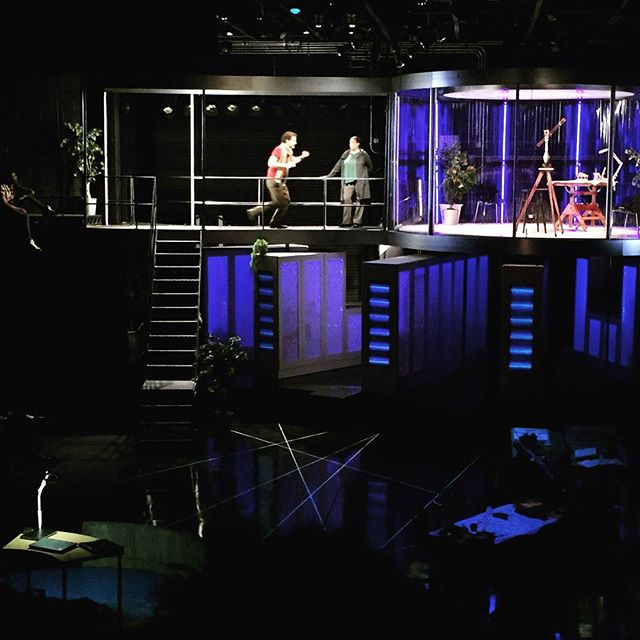 Opening night of #lifeofgalileo at @playmakersrep is fantastic. A very recognizable story of the struggle for reason to prevail against the establishment. #chapelhill #playmakers #uncarts #unc