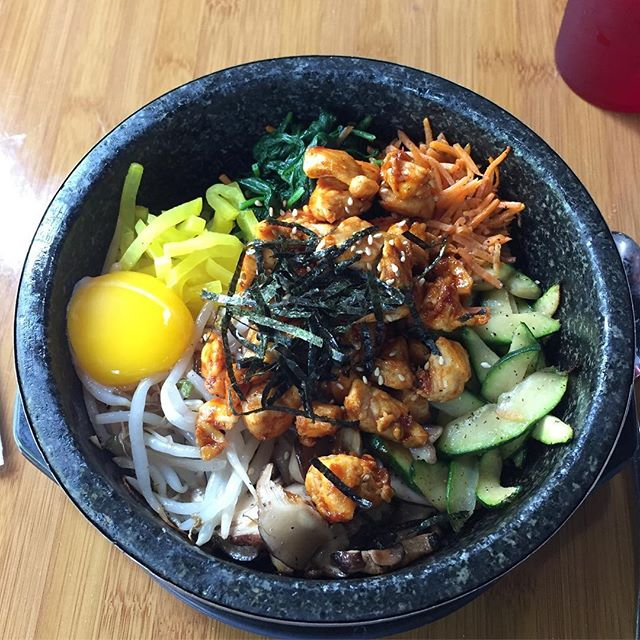 This is some delicious bibimbap.