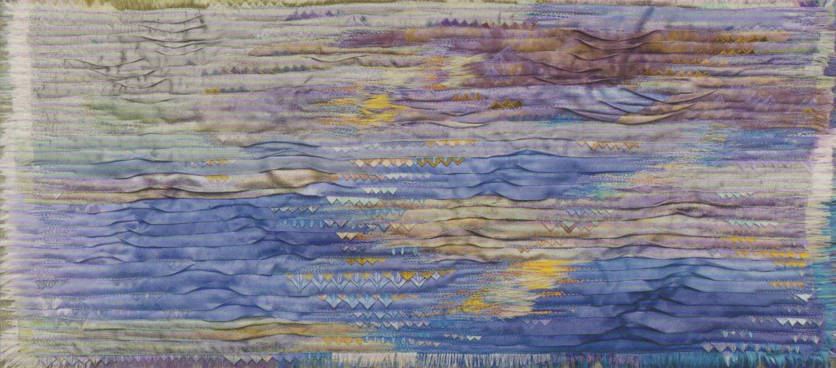 "Ludmila Artistova  Untitled #1, 23"" x 10"", mixed media, fiber"