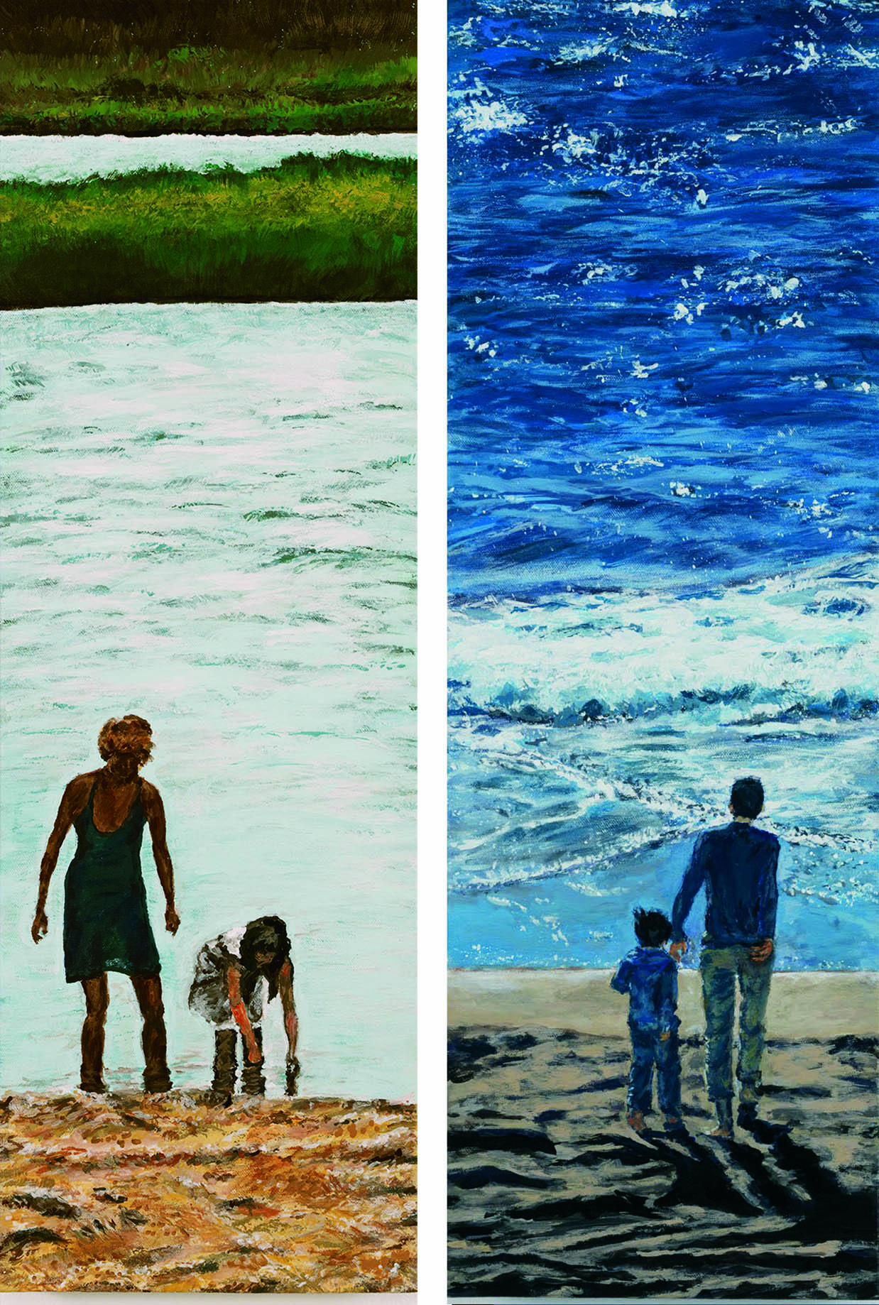 Eleanor Gilpatrick Left: Afternoon Beach Right: Together