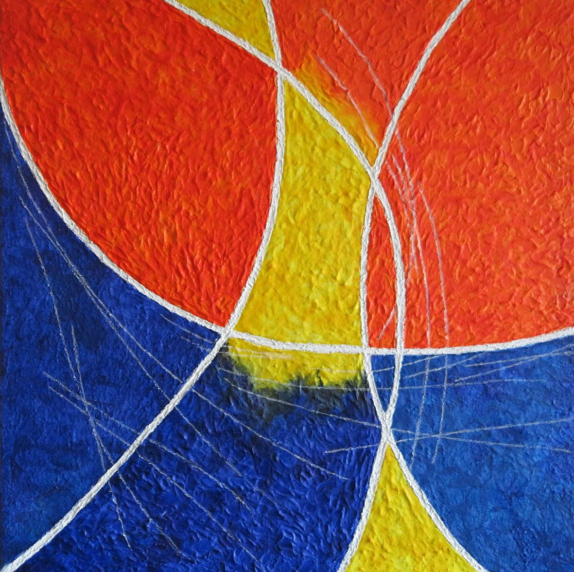 Sandra Sfodera (I), Atomos (2016), mixed media on canvas, cm 50x50.jpg