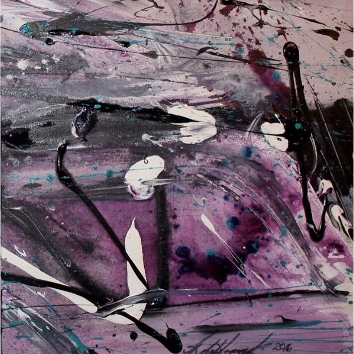 Roberta Grewcock (CA), New York Squares 1 #2 (2016), acrylic on canvas, cm 50x50.jpg