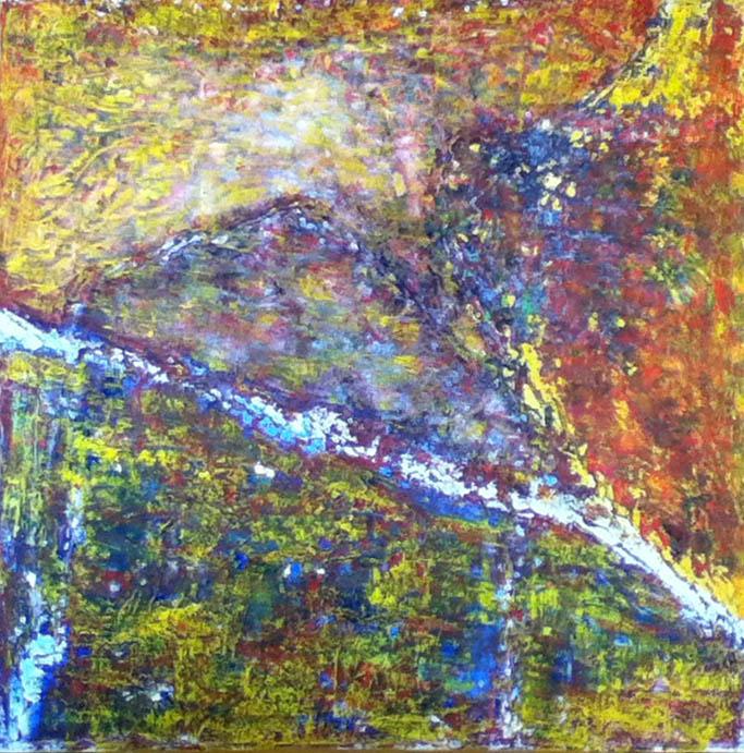 Maria Ferrara (I), Schegge di luce 3 (2013), oil on canvas, cm 50x50.jpg
