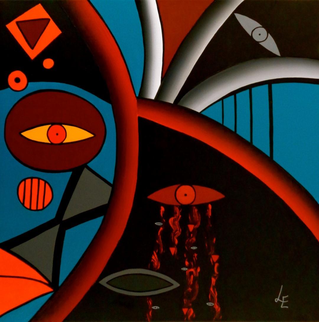 Laurence Eichenlaub (F), Disenchanted (2014), acrylic on canvas, cm 50x50.jpg