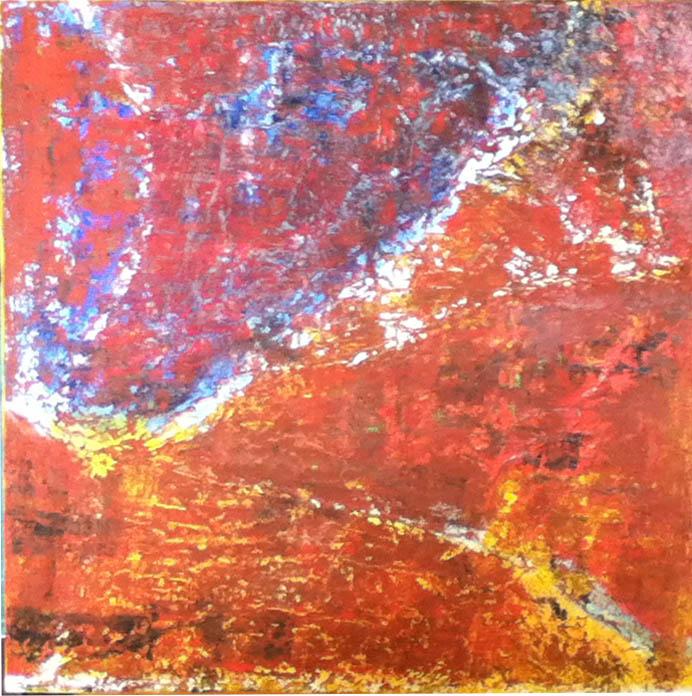 Maria Ferrara (I), Schegge di luce 1 (2013), oil on canvas, cm 50x50.jpg