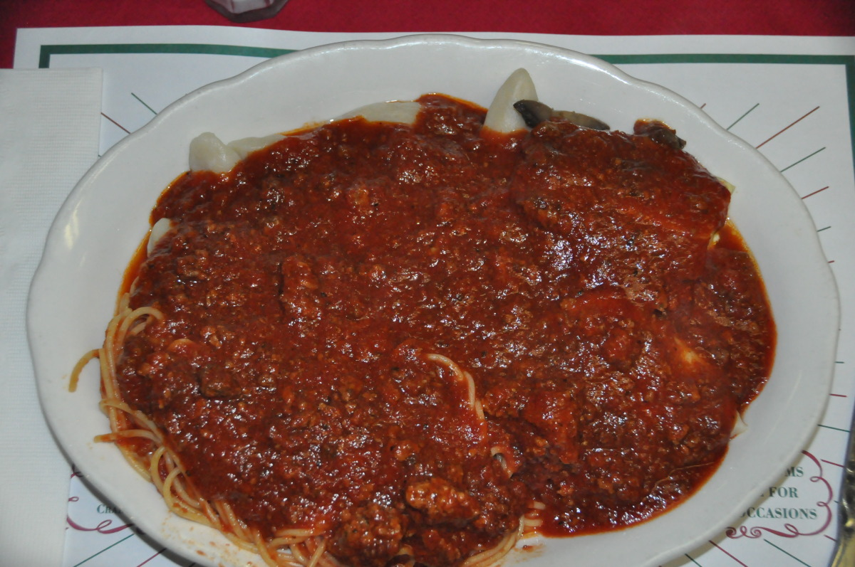 Carabone's Famous Pasta Sampler with Meat Sauce