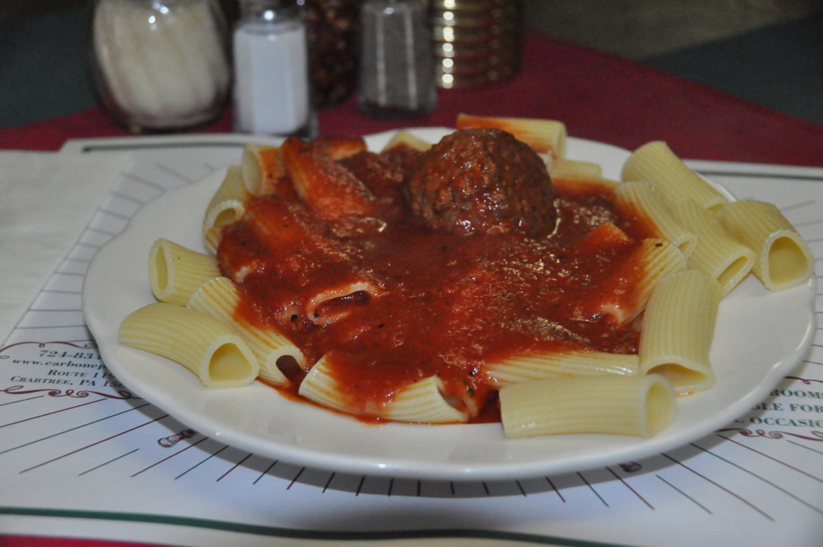 Rigatoni with Meatball