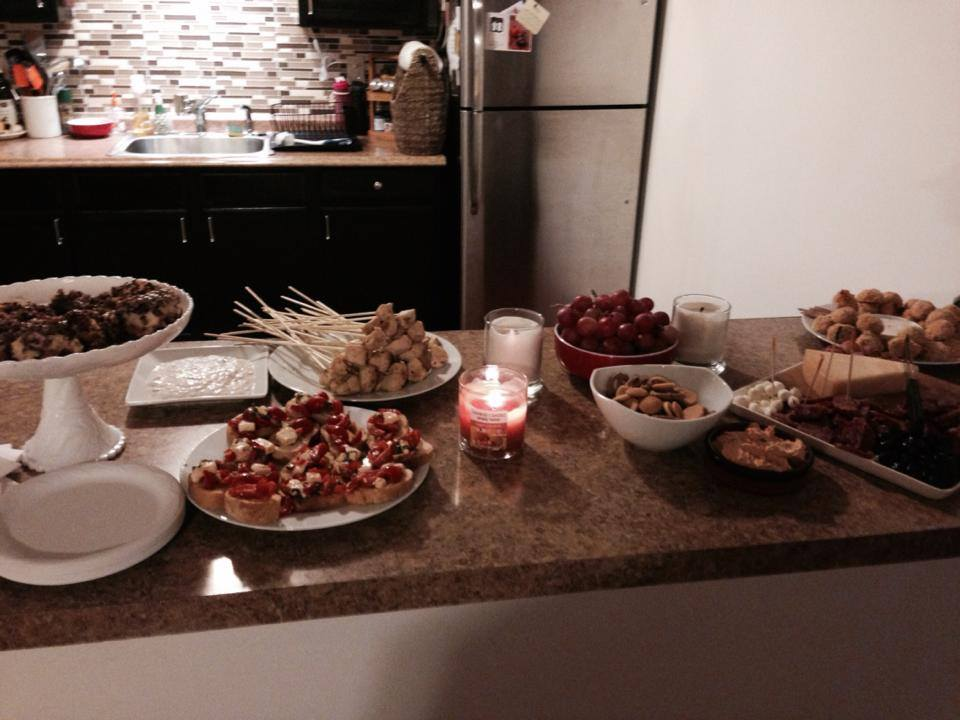 The food for the party scene for SISTERLY DISORDER. I couldn't wait to tear into it once we were done filming. YUMMY.