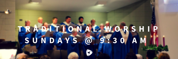 Our Traditional Worship service is a full length (1-hour) service held weekly on Sundays at 9:30 AM in our Sanctuary.