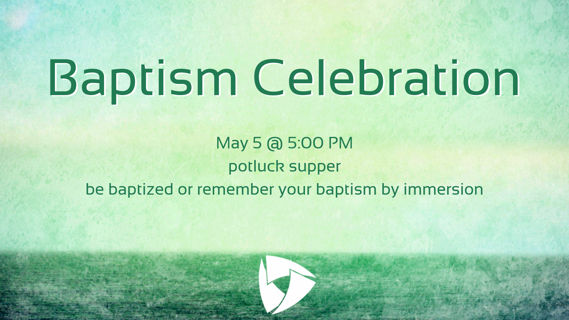 Sign up today for the Baptism Celebration and Potluck Supper. Visit:  https://christchurchia.churchcenter.com/registrations/events .   Please register if you are planning on coming whether or not you plan on being baptized or remembering your baptism. This will help us setup the room adequately for the event.  Bring a dish to share and we'll provide the plates, silverware and beverages! See you there!