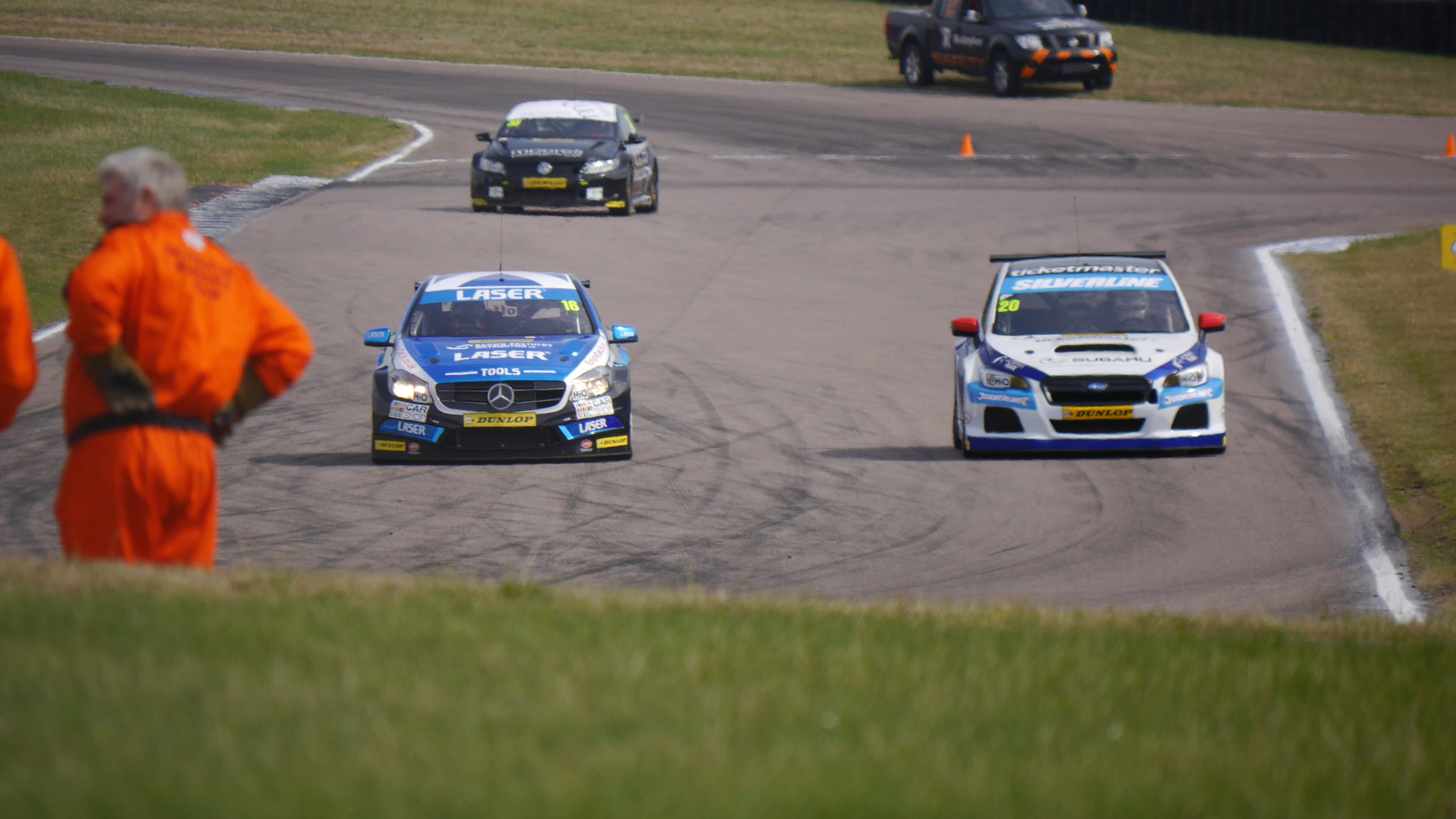 Aiden Moffat and James Cole side-by-side during FP2