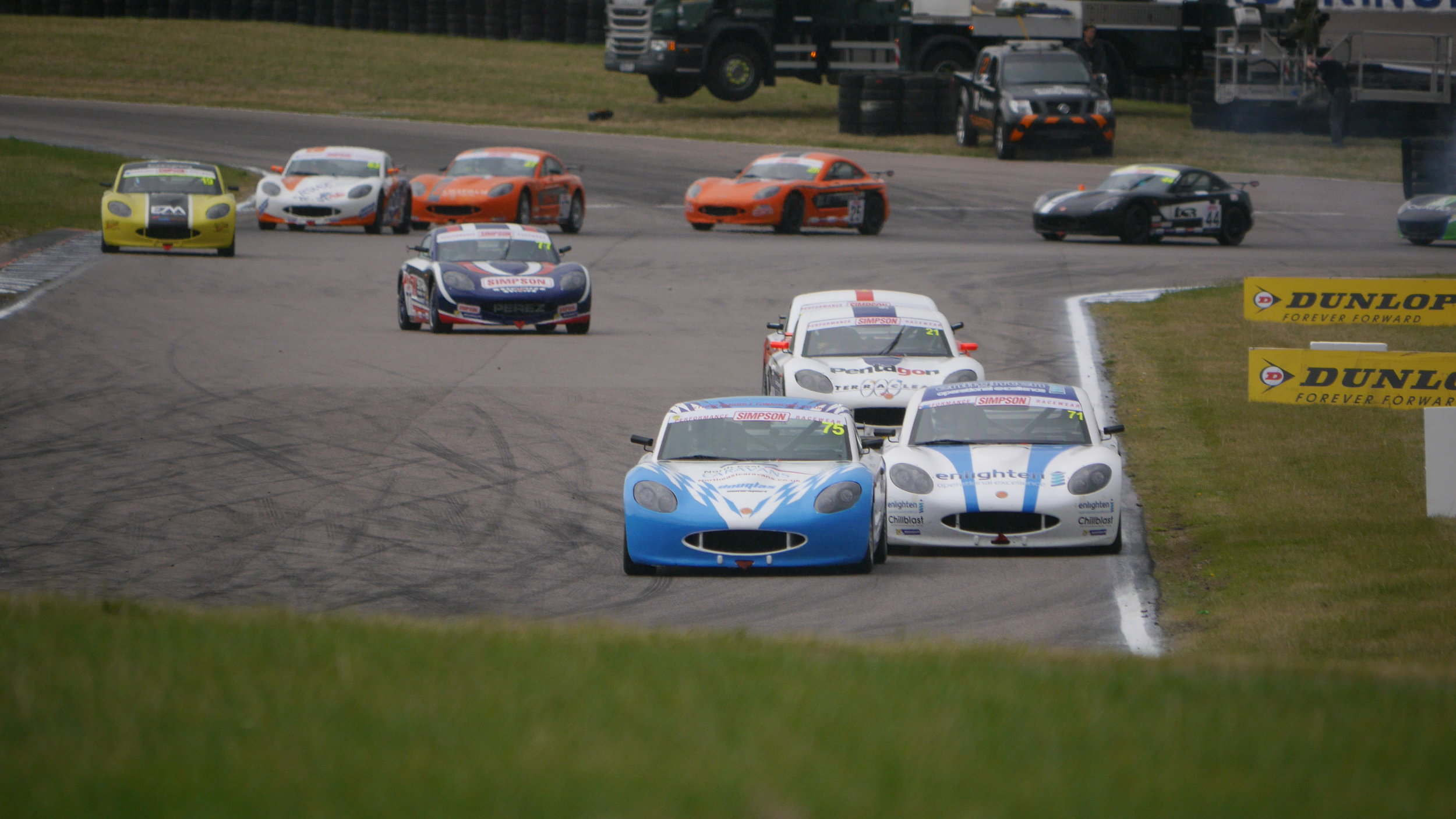 Ginetta Junior support races provide close racing