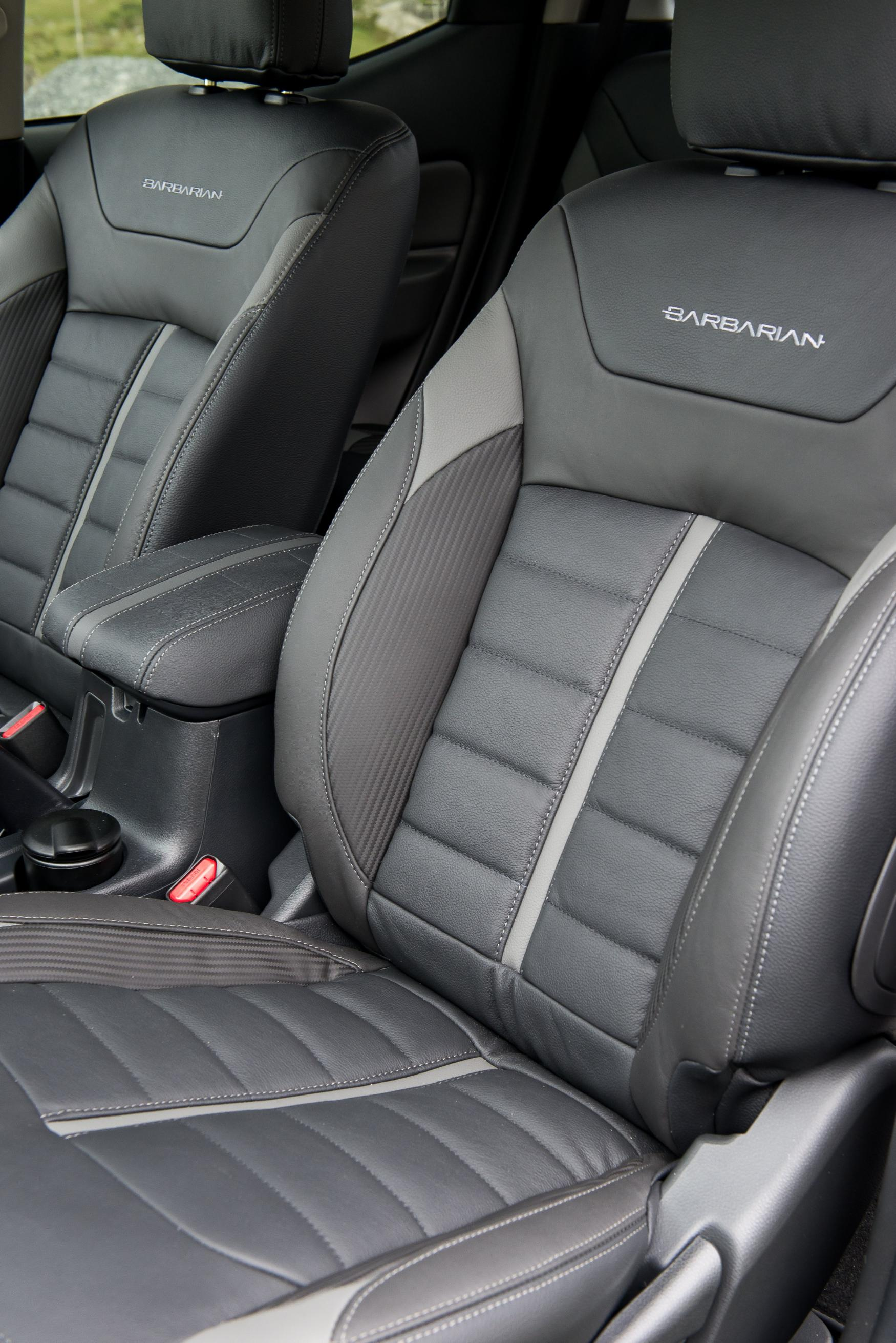 BLACK REAL LEATHER LOOK SEAT COVERS  FOR MITSUBISHI L200 PICKUP