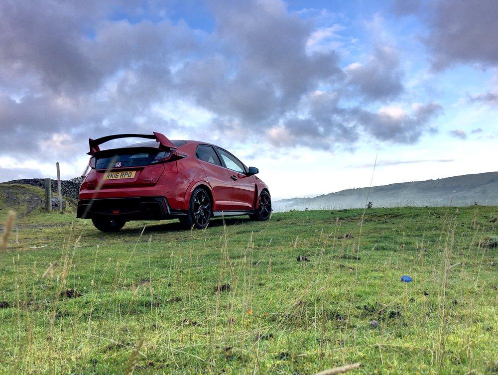 Honda Civic Type-R contemplating Wales