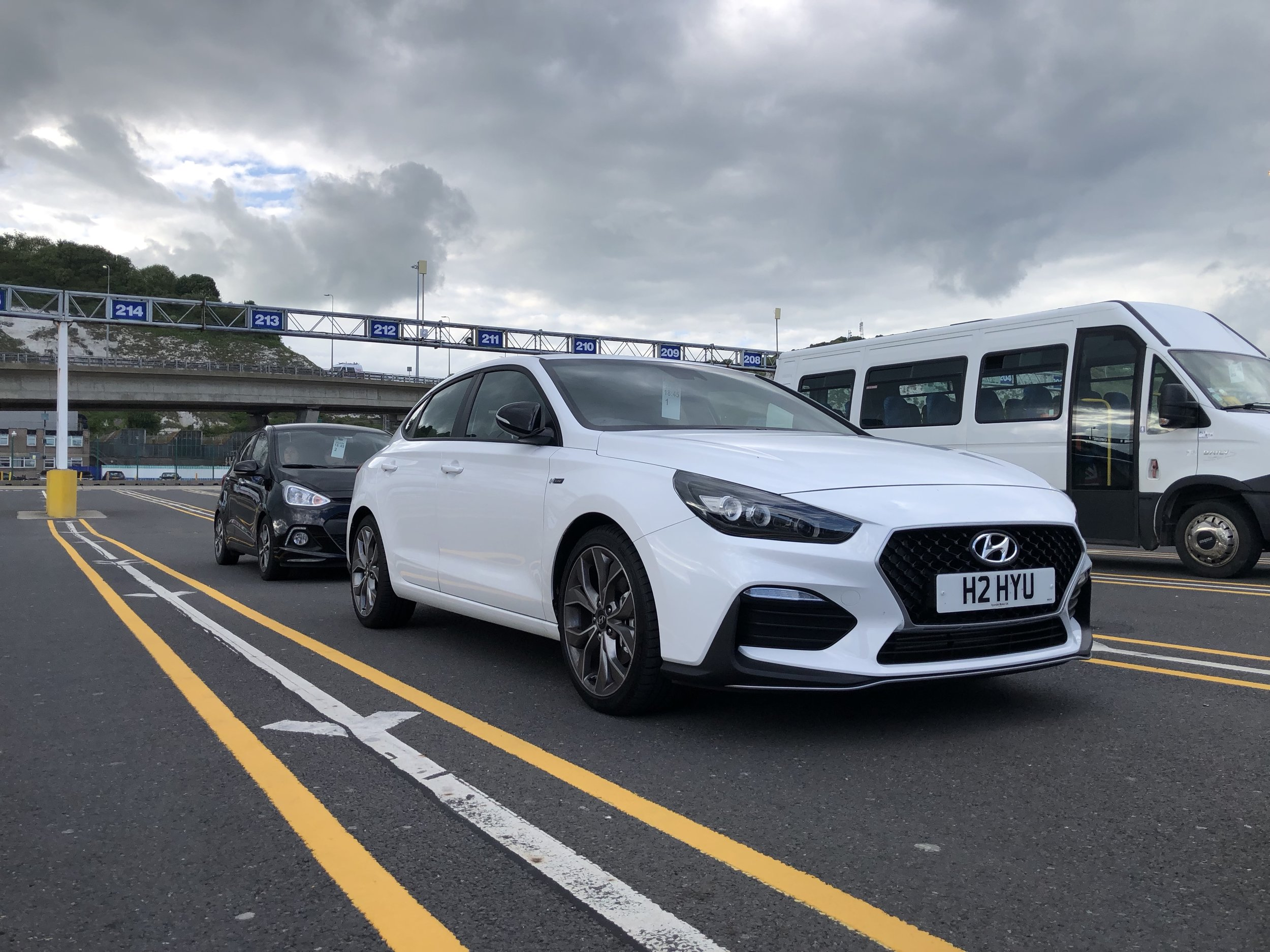i30 Fastback N-Line+ lines up for the ferry in Dover