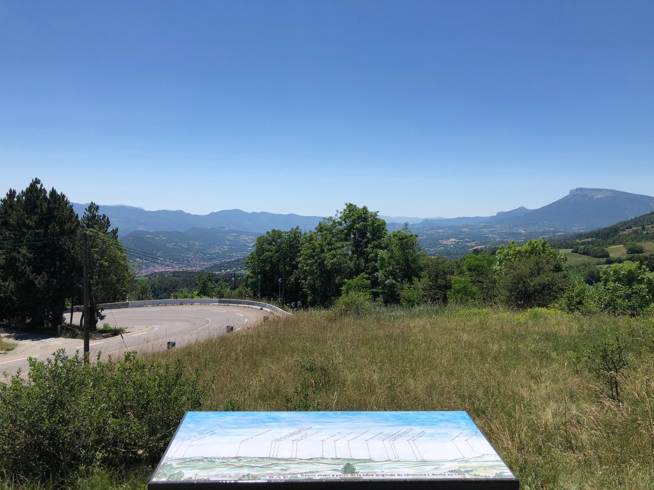 SillOn de Gap from the Col Bayard