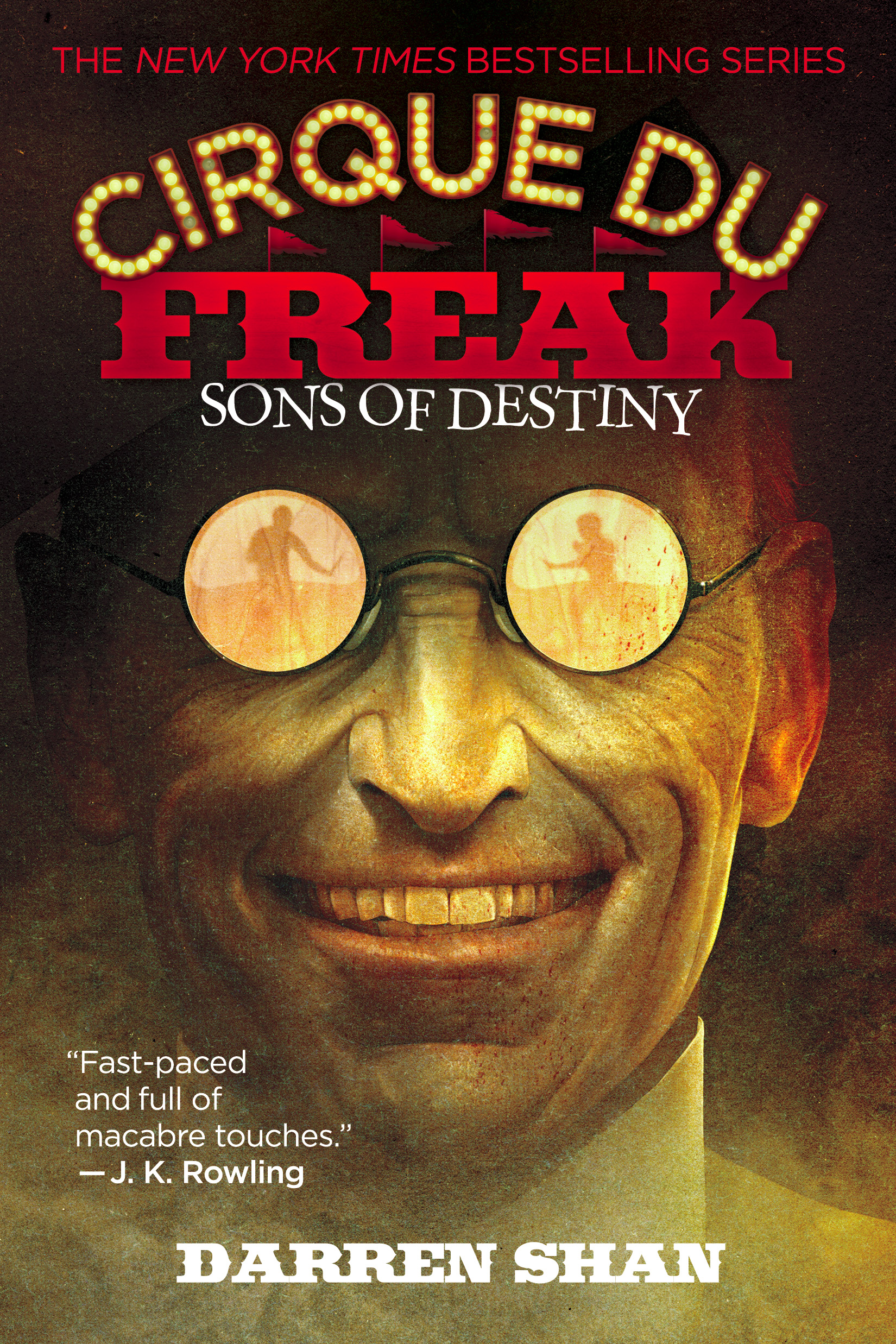 Cirque Du Freak: Sons of Destiny by Darren Shan Designed by Ben Mautner for Little, Brown Logo & Identity by Ben Mautner. Illustrated by Sam Weber.