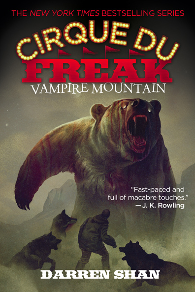 Cirque Du Freak: Vampire Mountain by Darren Shan Designed by Ben Mautner for Little, Brown Logo & Identity by Ben Mautner. Illustrated by Sam Weber.