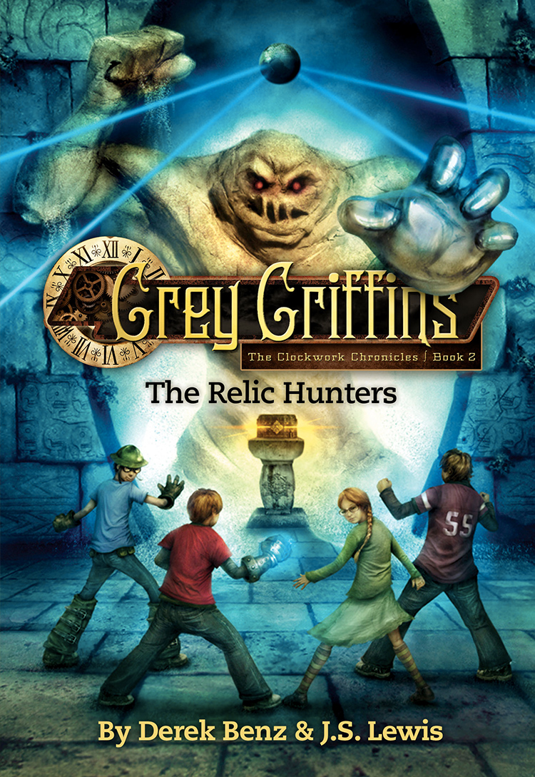 Grey Griffins: The Relic Hunters by Derek Benz & J.S. Lewis Designed by Ben Mautner for Little, Brown Illustrated by Vincent Chong
