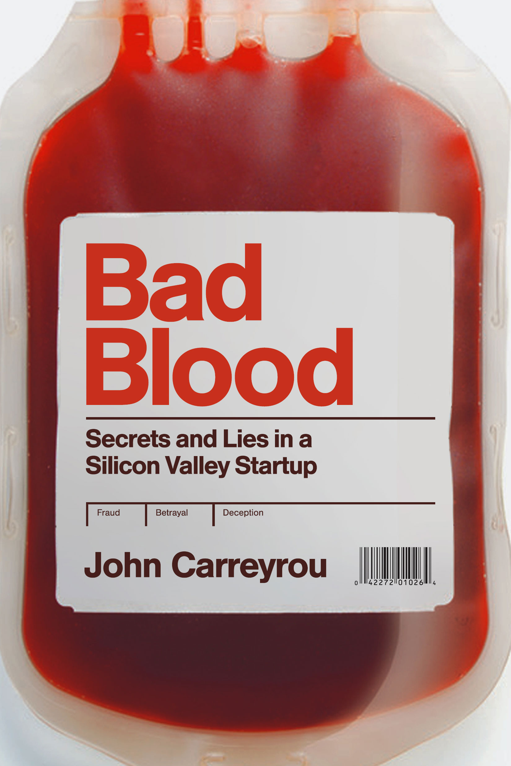 Bad Blood by John Carreyrou Designed by Ben Mautner for One Hour Covers