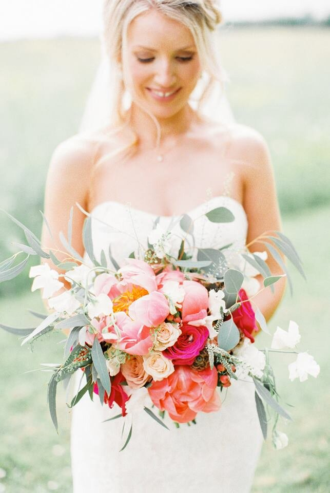 Coral Cotswolds Wedding