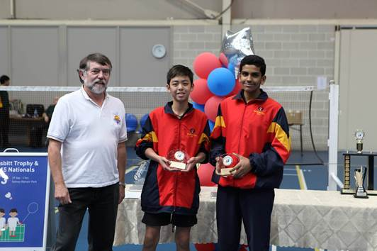 Congratulations to Harsh Phogat - he won plate mixed and doubles at the 2013 Li-Ning U15 Australian Nationals Sydney  Photo courtesy of  Kevin Chan
