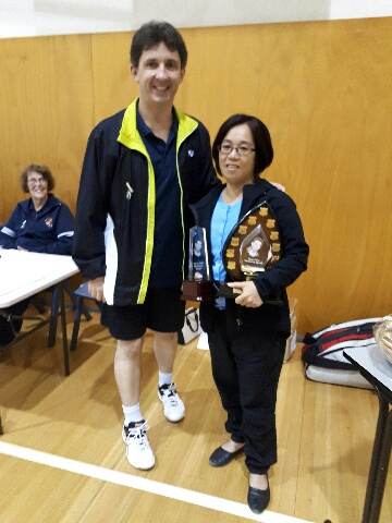 Meng Fong 2016 award recipient is Ly Ming - the friendly face you see greeting people and collecting door fees on Friday nights at Sturt Badminton Academy sessions. Thank you Ly for your courtesy, assistance to the Club and its members, enthusiasm and dedication.