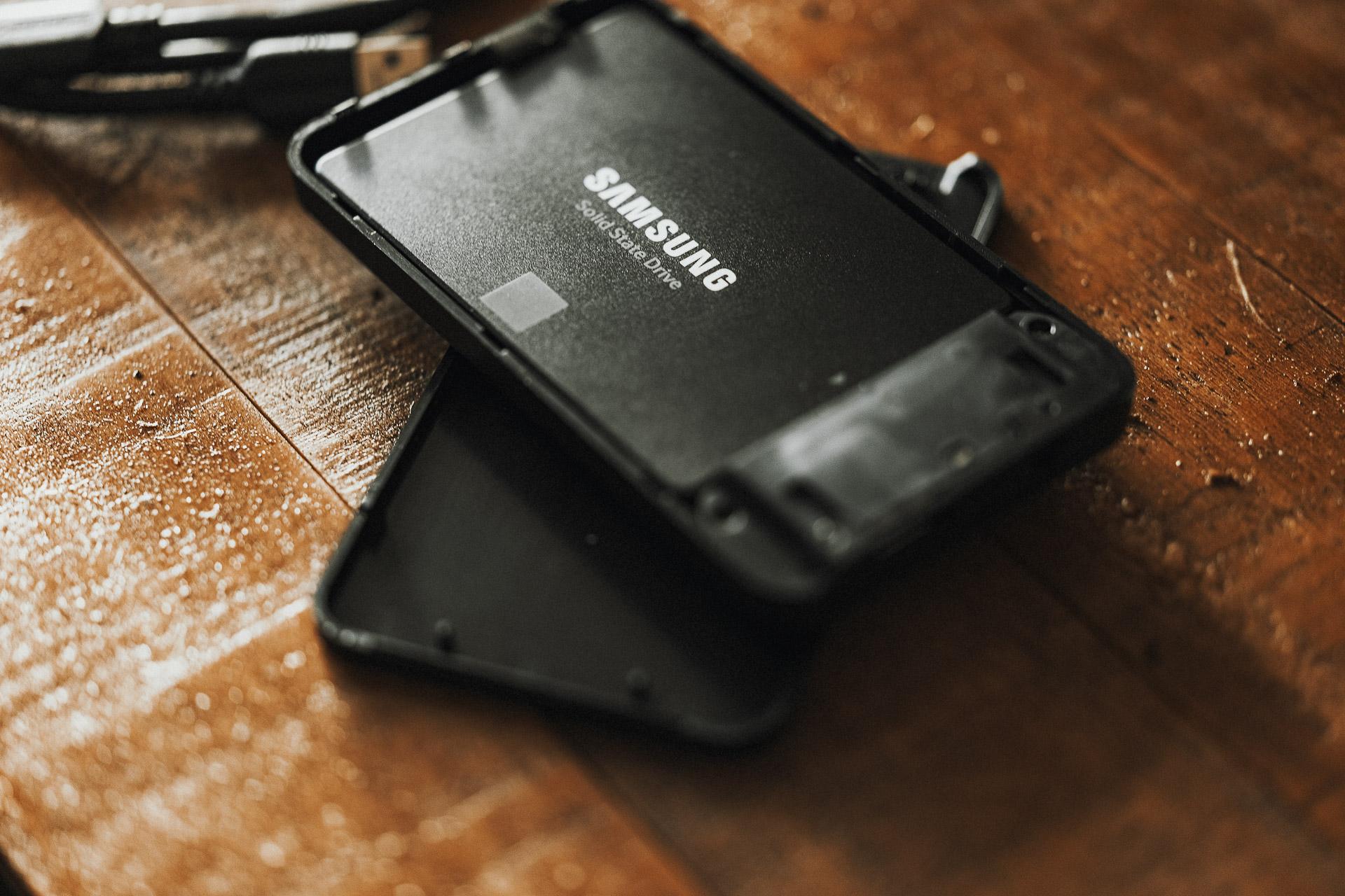 Samsung 1TB SSD  inside the portable  Sabrent SATA USB-3.1 Enclosure