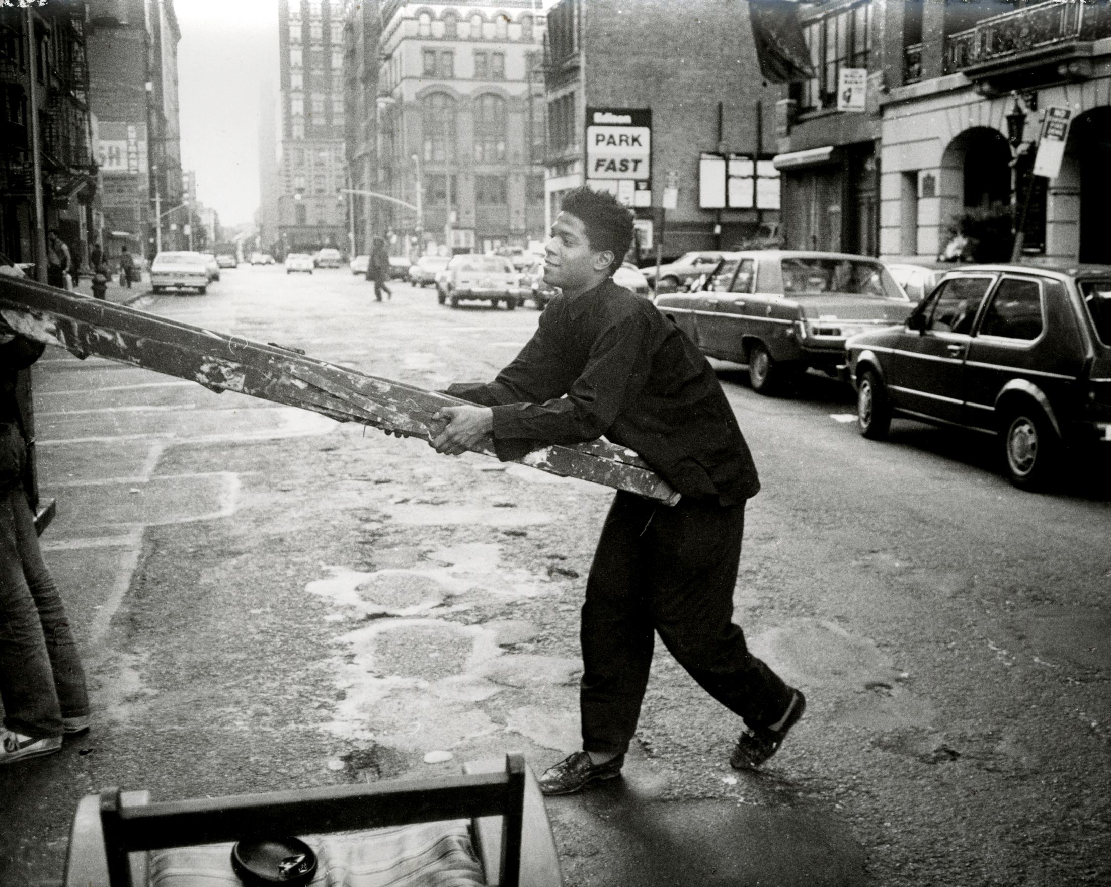 Jean-MIchel Basquiat and ladder.jpg