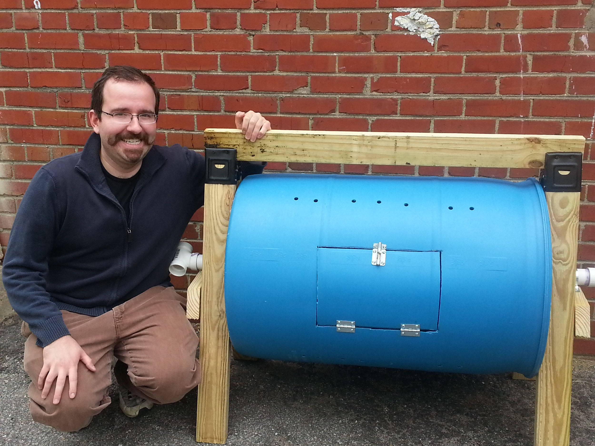 Bruno from CompostRVA with our new composter.
