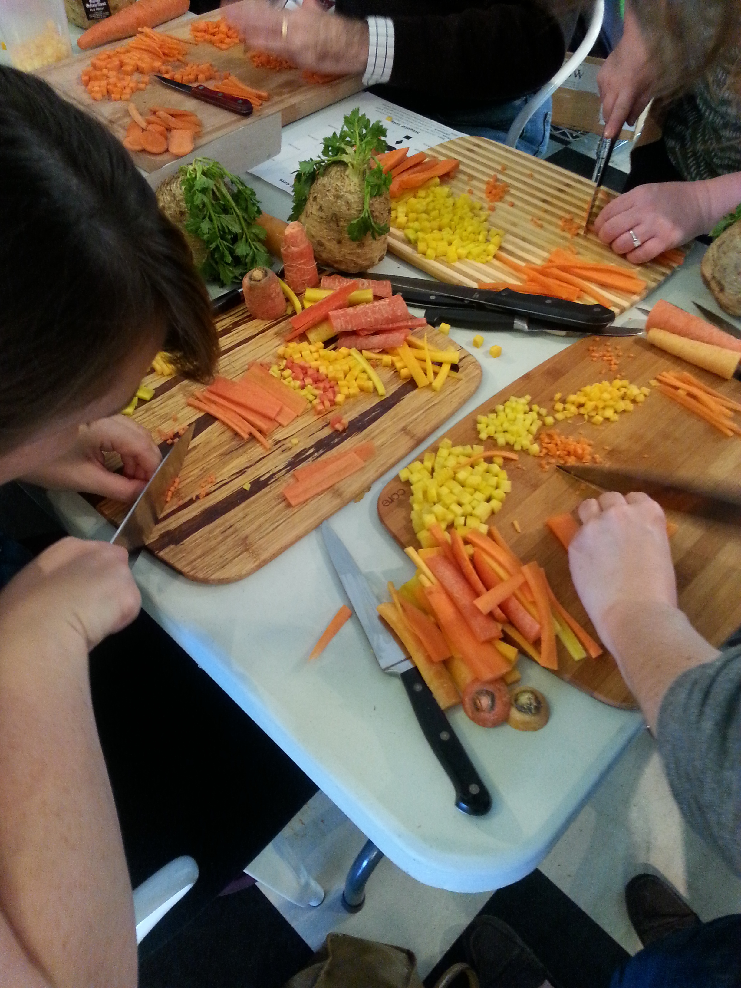 Students did a lot of chopping!