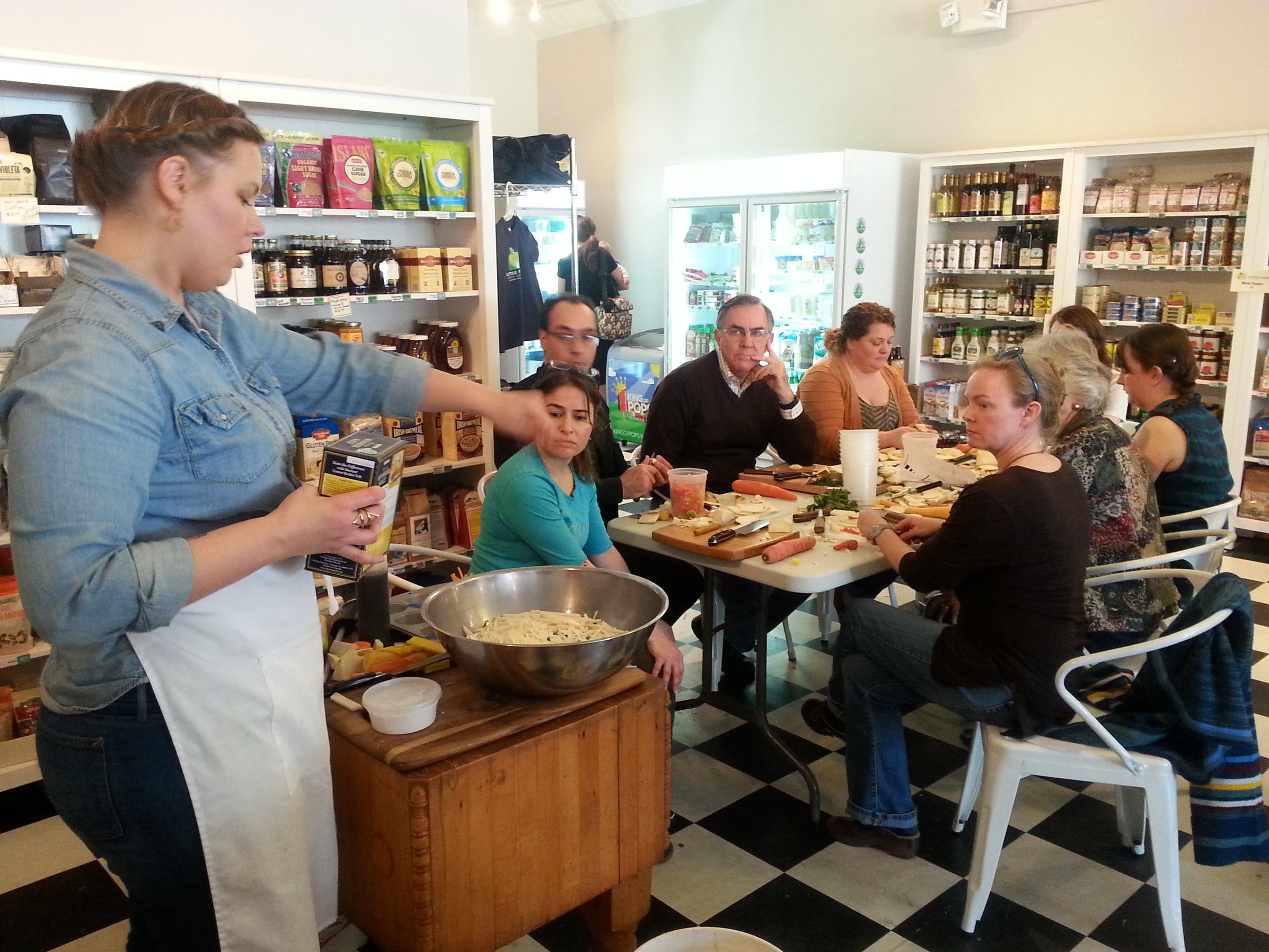 Chef Brittany Anderson makes a celery root salad at Little House