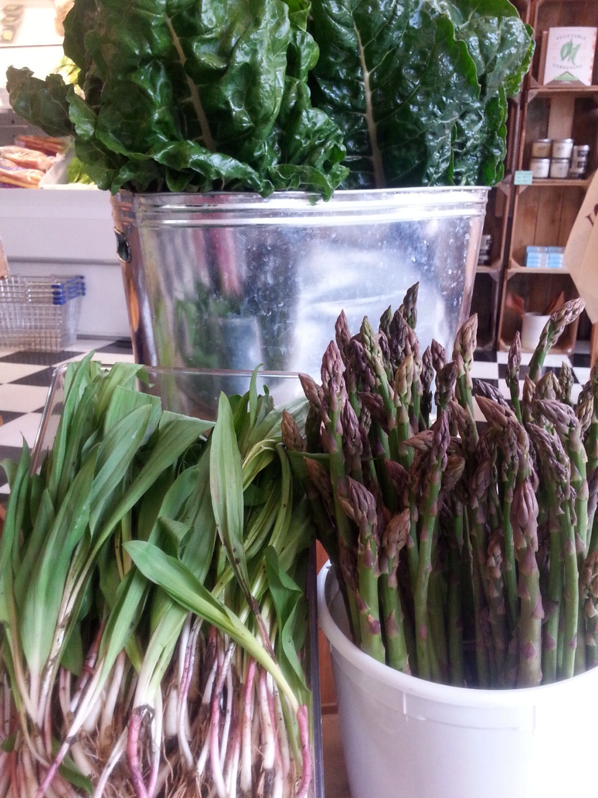 Local chard, asparagus, and ramps!