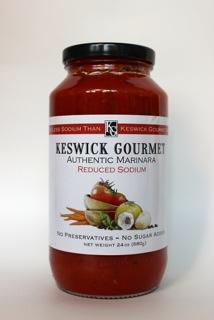 Keswick Gourmet Low Sodium Marinara